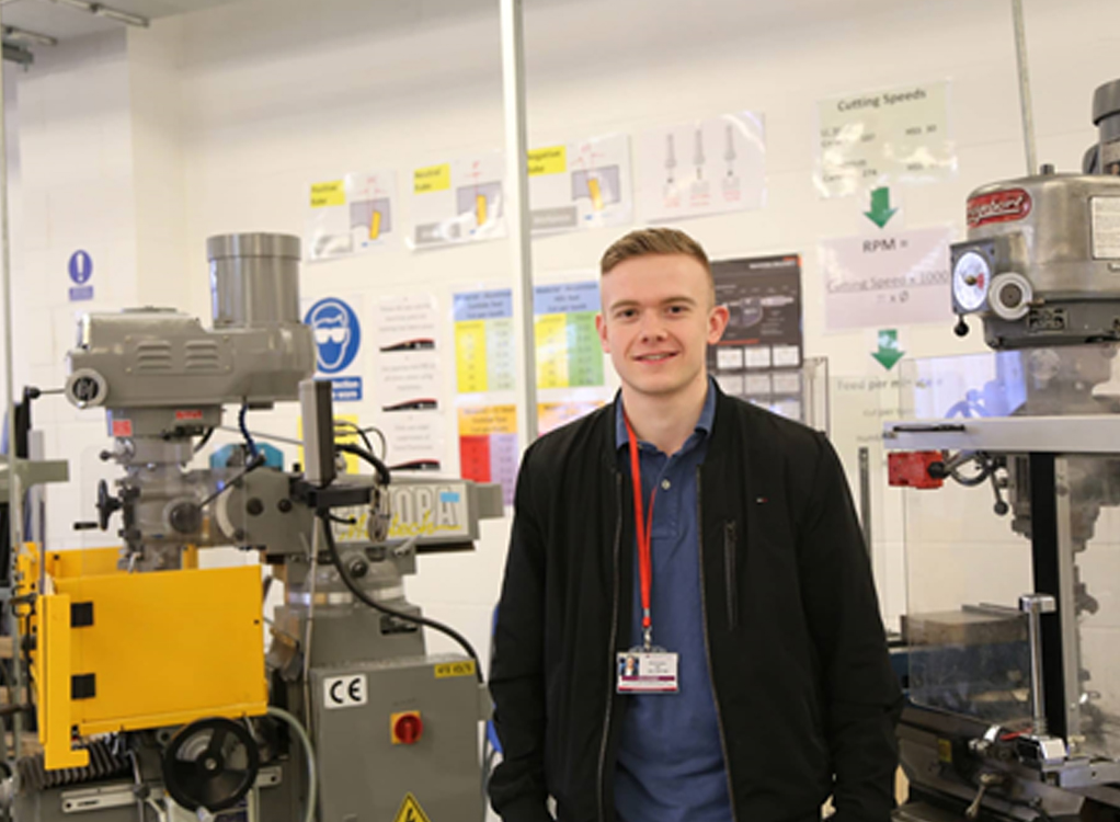 Chris Hill, 20, is making strides in his apprenticeship in Mechanical Engineering.